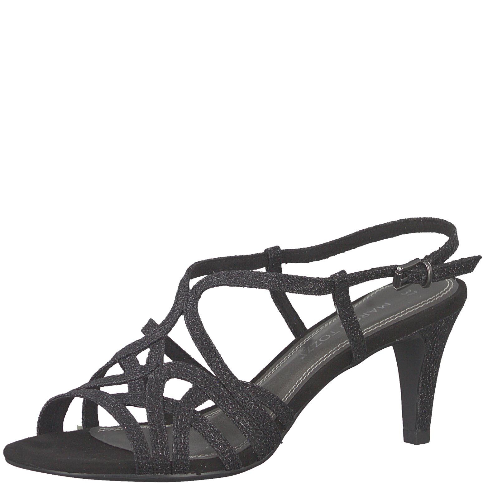 79d163b3bb2a Dámske sandále 2-28328-22 033 MARCO TOZZI BLACK METALLIC – Topánky Olympia  shoes